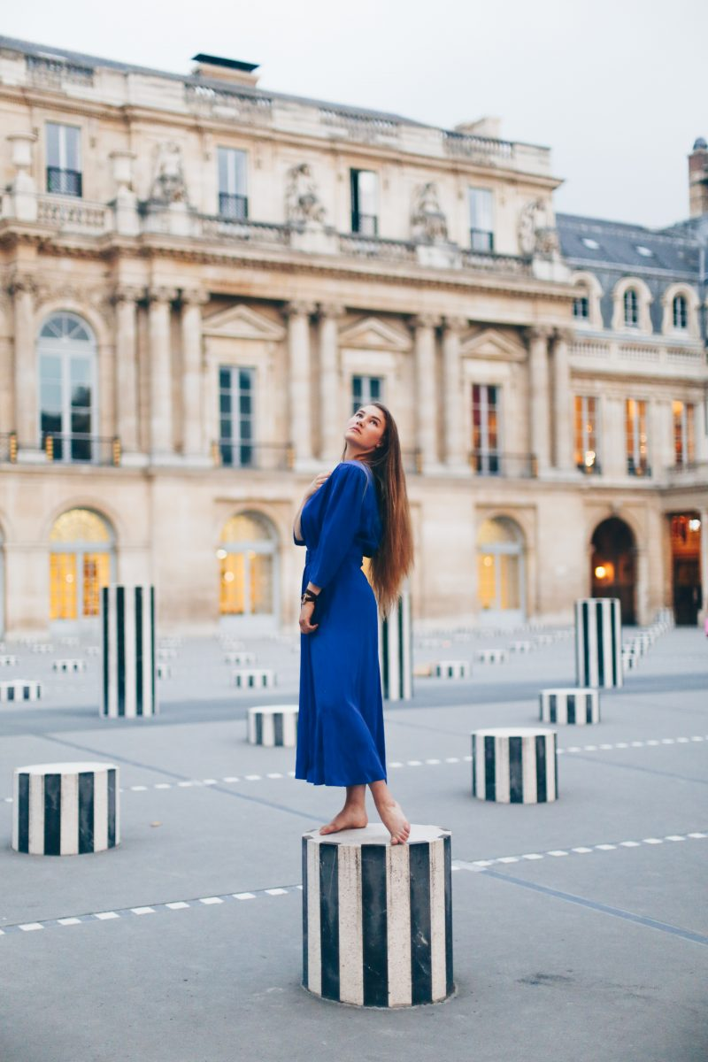 Blue Dress at the Palais Royal